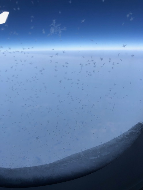 Vereistes Flugzeugfenster