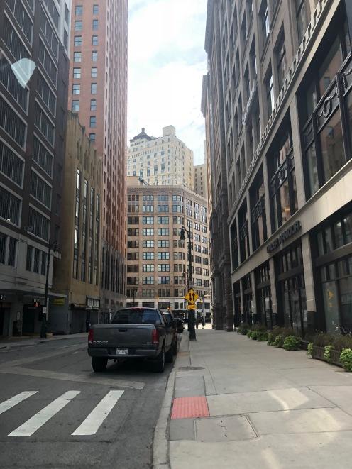 Ein Blick in eine Straße