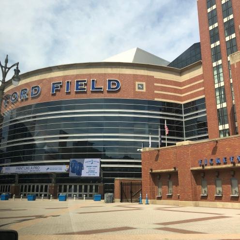 Der Eingang vom Ford Field